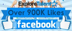 ExploreTalent Reaches 900,000 Likes on Its Facebook Page